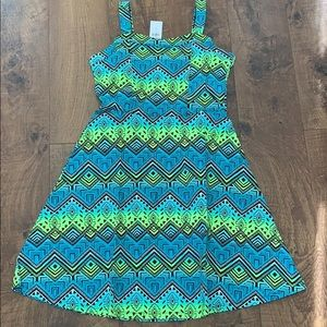 NWT justice girls size 12 Aztec inspired dress
